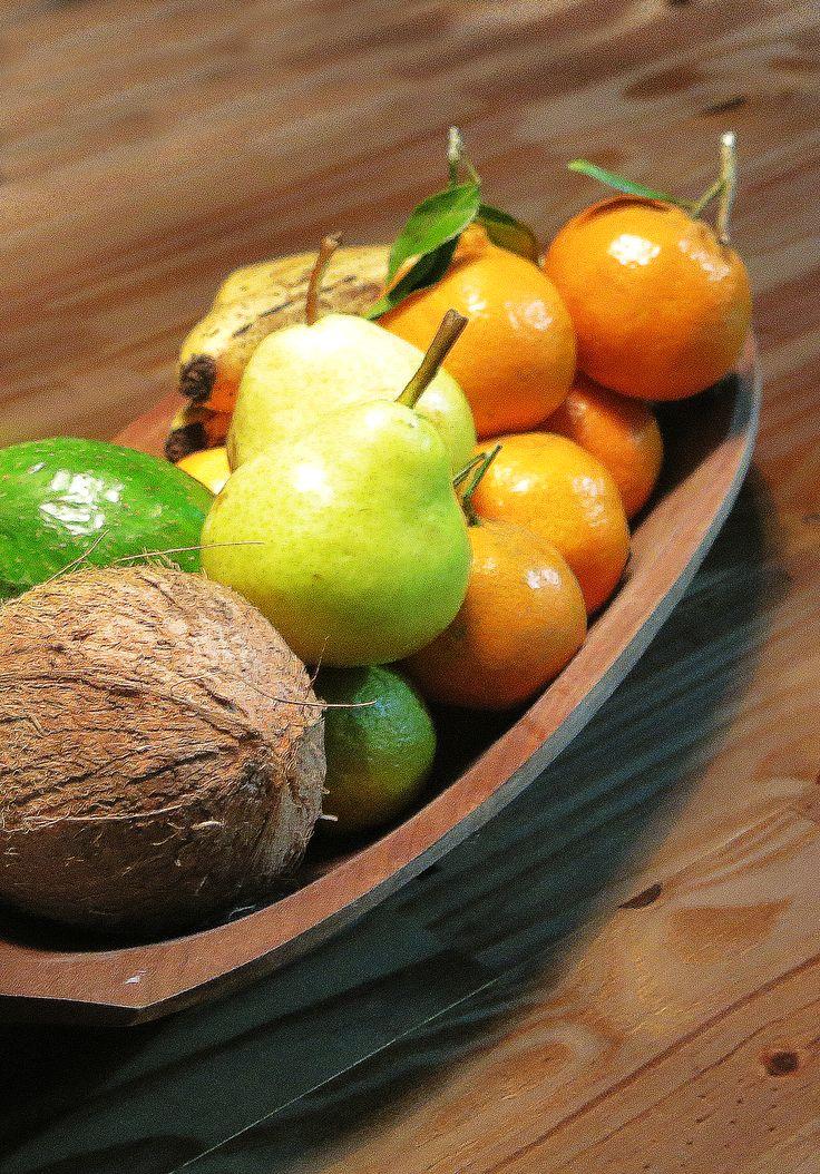 Pera, Limão, Côco, Bergamota, Banana.