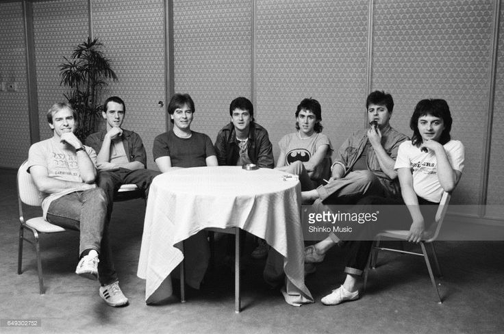 Bay City Rollers at press conference, March 1983.