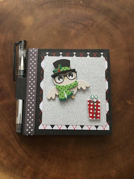 Holiday Post It Christmas Owl Pad Christmas Notes Holder