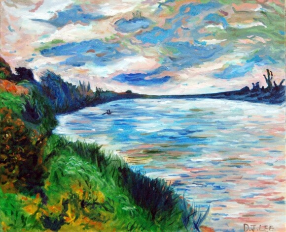 a copy of a painting by Monet