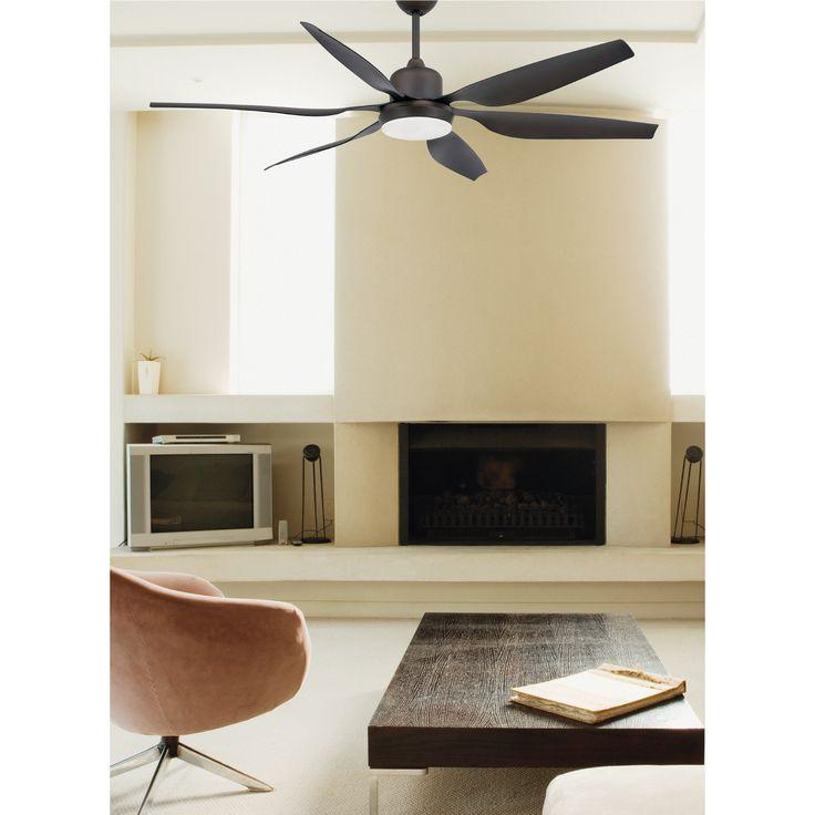 Ventilateur de plafond TILOS marron foncé 6 pâles travaillé de Faro chez Mister Lumière
