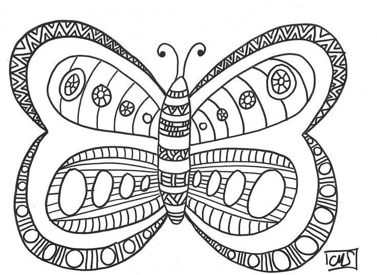 Avant de vous présenter notre nouveau projet pour décorer l'hôpital des enfants, voici un papillon à colorier. Chacun de mes élèves a colorié un papillon et on les a affichés sur le mur du couloir, autour de la porte de la classe. C'est le printemps!!...