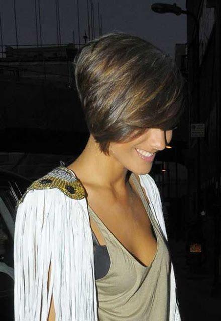 Voor de bruinharige dames: 10 stoere korte kapsels in mooie warme bruin tinten. - Kapsels voor haar