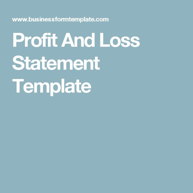 The 25+ best Statement template ideas on Pinterest Art education - free simple profit and loss template