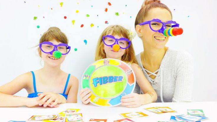 Игры для детей. Играем в Fibber. Наташа, Катя и Лена Капуки. Видео для д...
