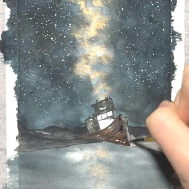 Watercolorist V1v1anliu Waterblog Akvarel Aquarelle Drawing
