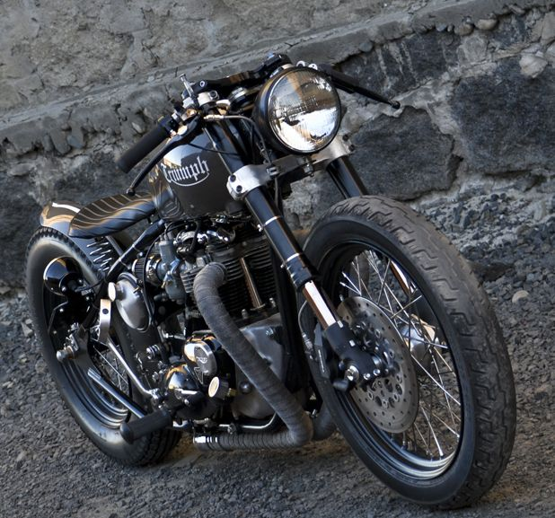 Beautiful Triumph bobber
