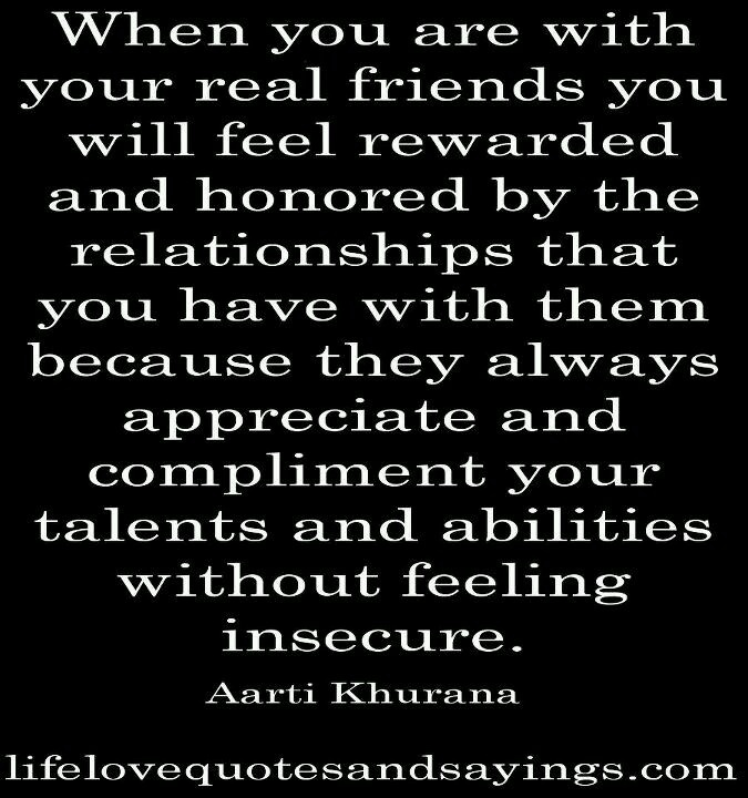 Real Friends... Love This! Only Fake Friends Get Jealous