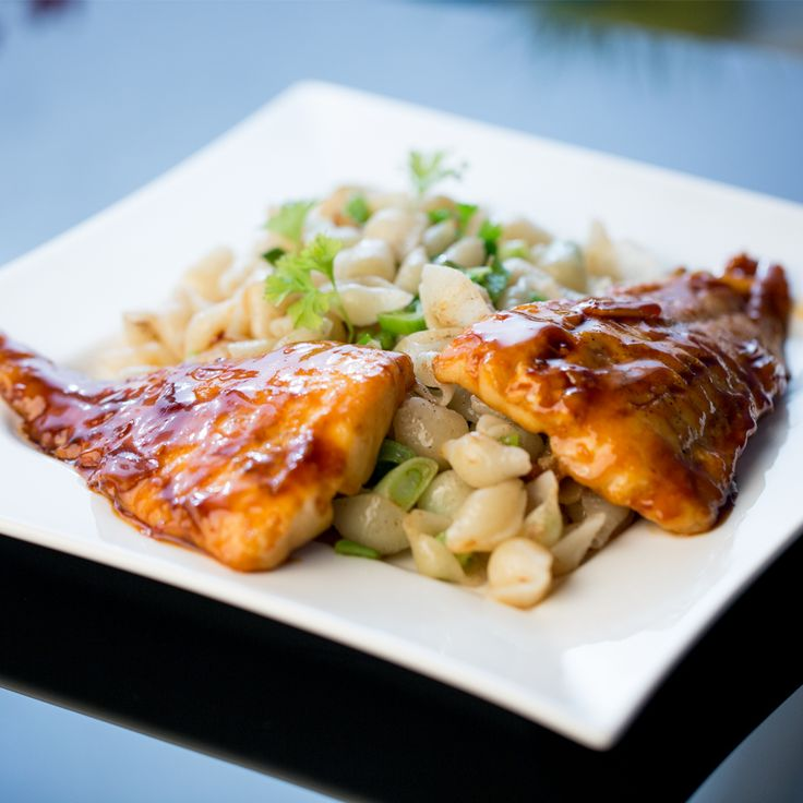 USE another type of fish CARAMELIZED PANGASIUS FILLET WITH PASTA Caramelize it with a mix of brown sugar, soy sauce, and chili. It imbues the fish meat with plenty of layered flavors, and the glaze on top is to die for! If you're looking for a full meal option, pair the fillet with some pasta. It's a satisfying, reliable combo!