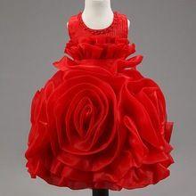 Девушка ну вечеринку платье цветок пачки платье без рукавов принцесса эльза стиль вечерние платья для девочек детская одежда подарки на день рождения в 2 - 7 т(China (Mainland))