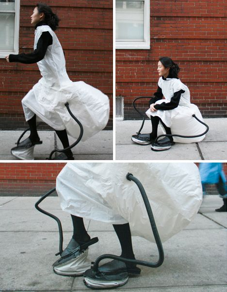 Self Sustaining chair and a new fashion statement! I want one!