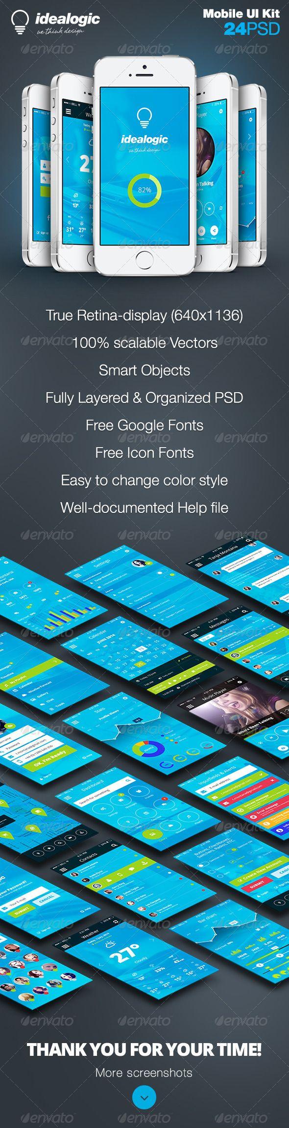 Idealogic - Flat Mobile App UI Design