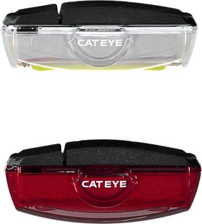 CatEye Rapid X Front / Rear Bike Light Set Clear/Red