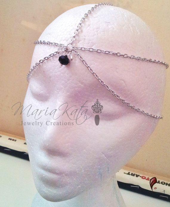 Newborn/Baby to Adult Head Chain w/ crystal by MariaKataJewelry
