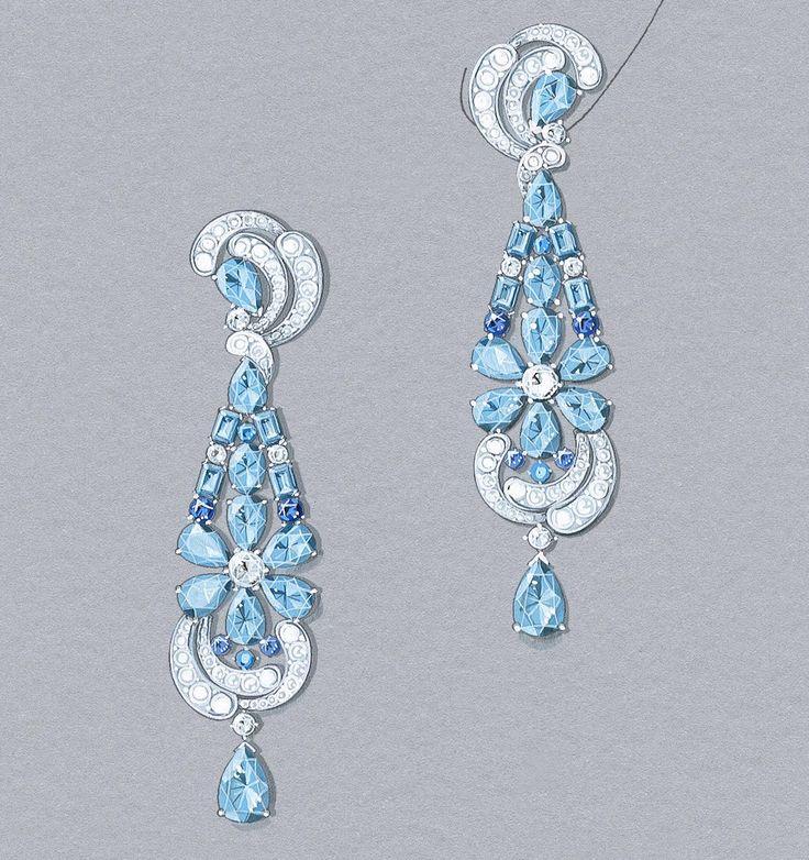 Lagune Précieuse earrings: Gouaché © Van Cleef & Arpels