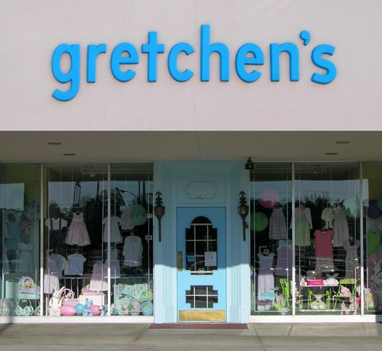 Gretchen's Children's Shop: one of Atlanta's oldest baby stores. They have SUCH a plethora of stock, and it's my go to place for anything monogrammed!