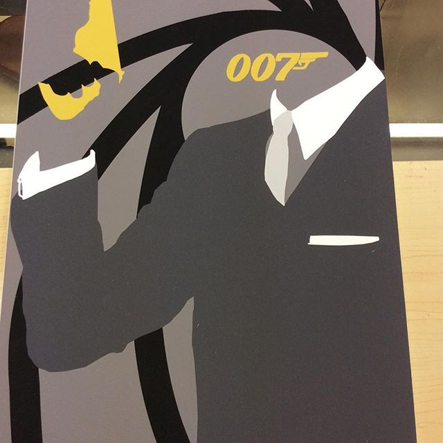 """""""A3 size Spectre fan art print by Huddersfield art student Jack Murphy high quality paper on a mountboard £45 Instore now and on our depop store #jamesbond #007 #danielcraig #bondfanart #spectre"""" Photo taken by @diversionsgifts.co.uk on Instagram, pinned via the InstaPin iOS App! http://www.instapinapp.com (07/03/2015)"""