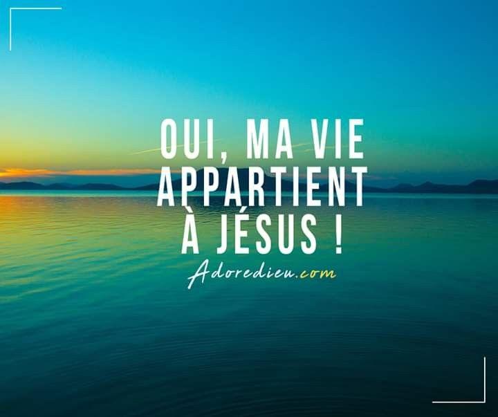 Oui Ma Vie Appartient A Jesus Paroles De Jesus Merci Jesus Citations Chretiennes
