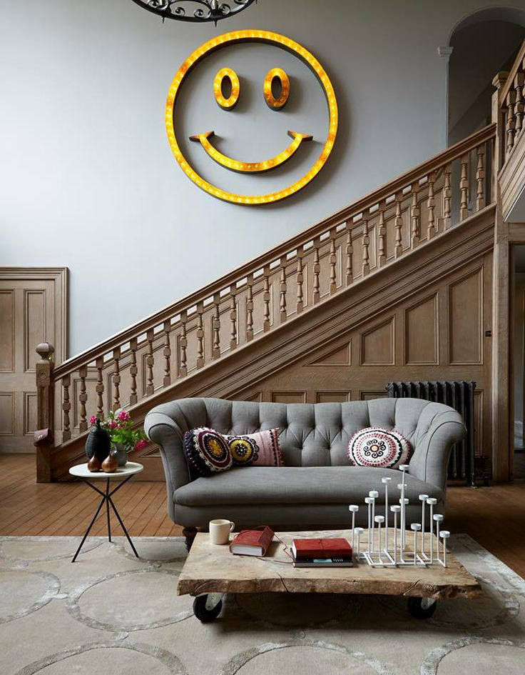 Nothing like a smiley face to bring happiness to a room!
