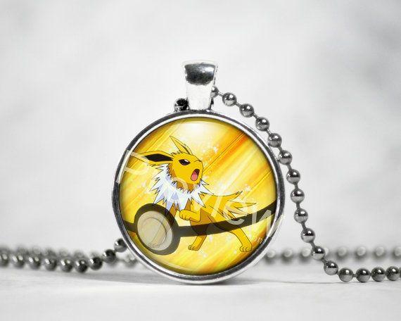 Jolteon Pokemon Pendant Pokemon Necklace with by PokemonyByAnn