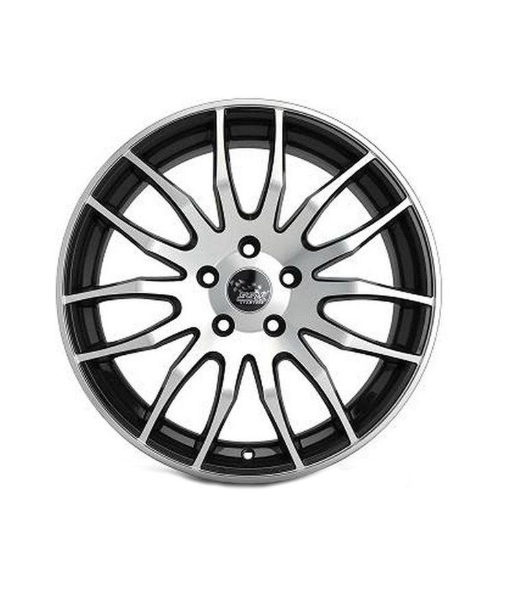 SSW Alloy Wheels S125lp 18 Inches 5 Holes Black Metallic Chrome for Renault