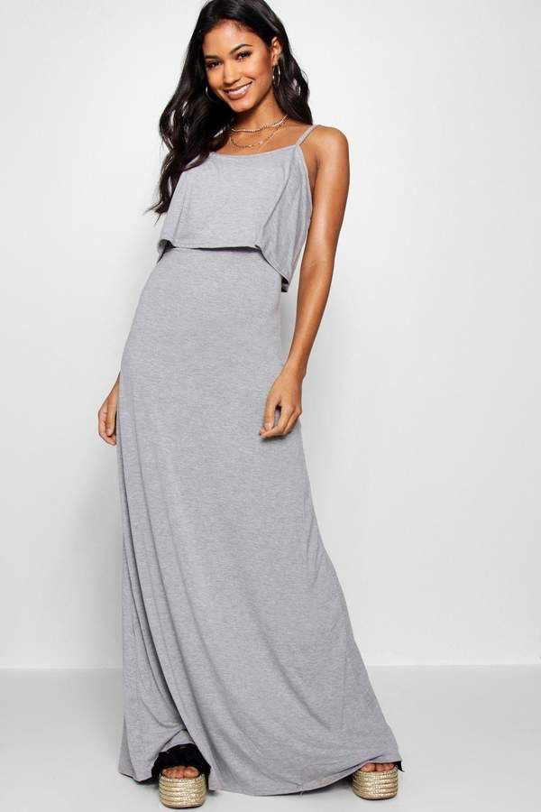 f40e59524dff5 boohoo Clara Tie Back Maxi Dress | Casual outfit | Dresses, Outfits ...