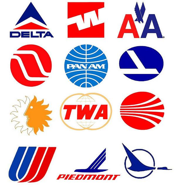 airline logos | Vintage Commercial Airline Logos - Airliner Logos From Around The ...