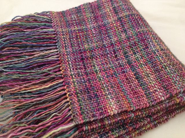 Arco Iris Woven Scarf. malabrigo Silky, Arco Iris colorway