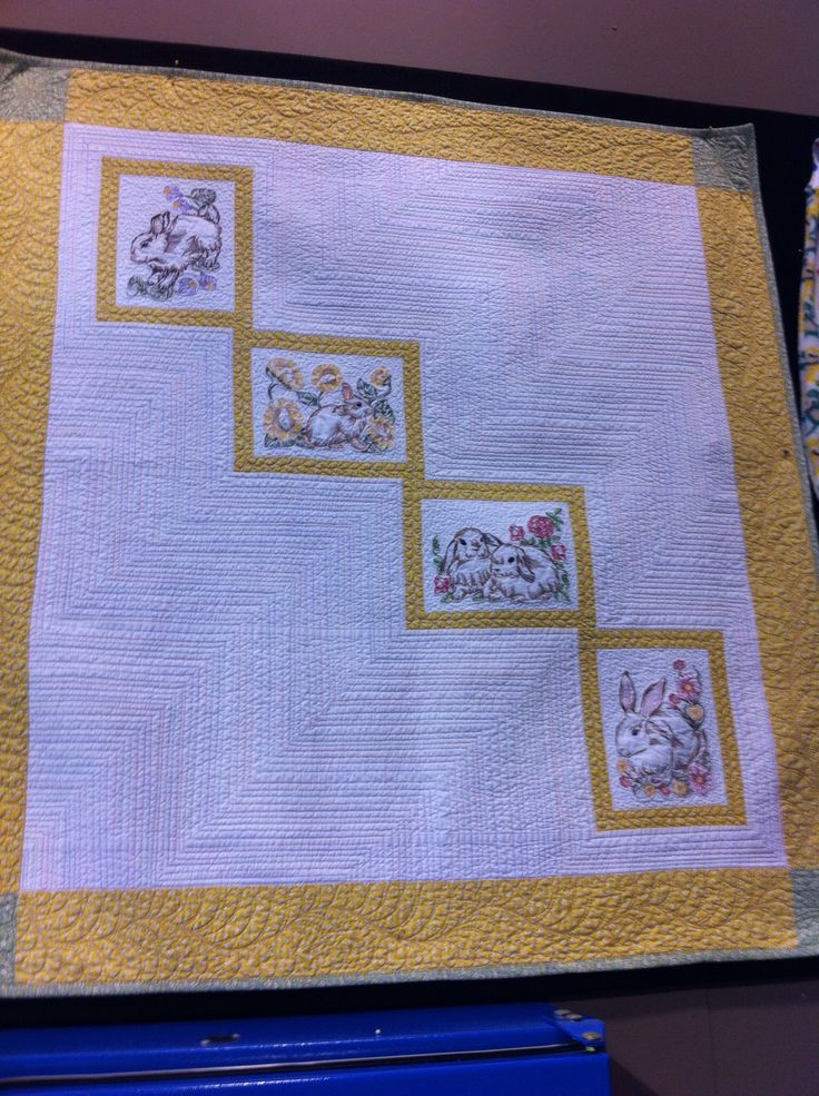 Baby quilt with Sew Swell designs, and quilted with Babylock Tiara