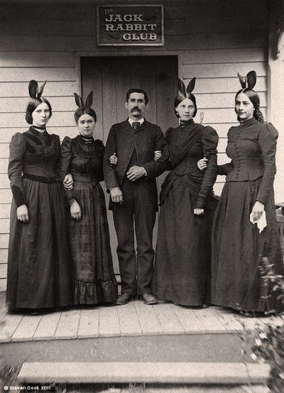 The Jack Rabbit Club---seems something scandalous here....a precursor to Hugh Hefner and his Bunnies?