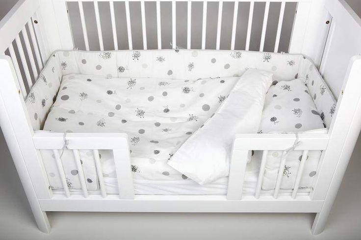 TROLL Ochraniacz BEE do łóżeczka | Pościel \ Ochraniacze na szczebelki 0-12 miesięcy 12-24 miesiące | 3kiwi.pl Sklep 134