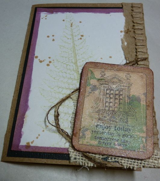 glimmer mist handmade card