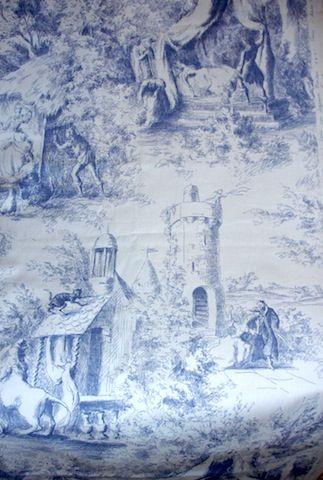 Wonderful Vintage French Toile de Jouy Cotton Fabric Suzanne Fontan Paris | eBay