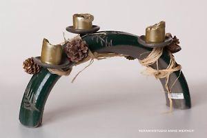 Adventskranz länglich, Weihnachtsdeko Adventsgesteck, Keramik  | eBay