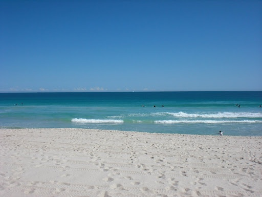 No matter where I go in the world, this image of home always stays in my mind. My beautiful, relaxing, hot, white sandy Scarborough Beach, Perth Western Australia.