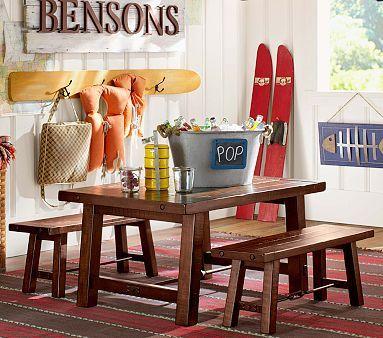 Benchwright Table U0026 Bench #PotteryBarnKids