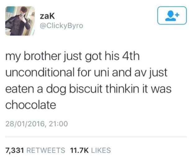 On brothers: | 24 Times Scottish Twitter Made You Shit Yourself Laughing In 2016