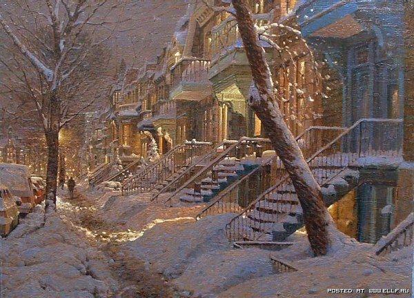 Картины с рождественским настроением от Ричарда Савойя