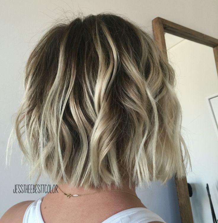 Rooty blonde balayage