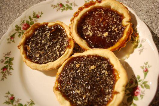 Sweet, delicious Downton Abbey treacle tarts.