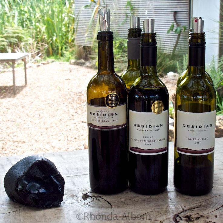 Obsidian Wines ready for the tasting on Waiheke Island