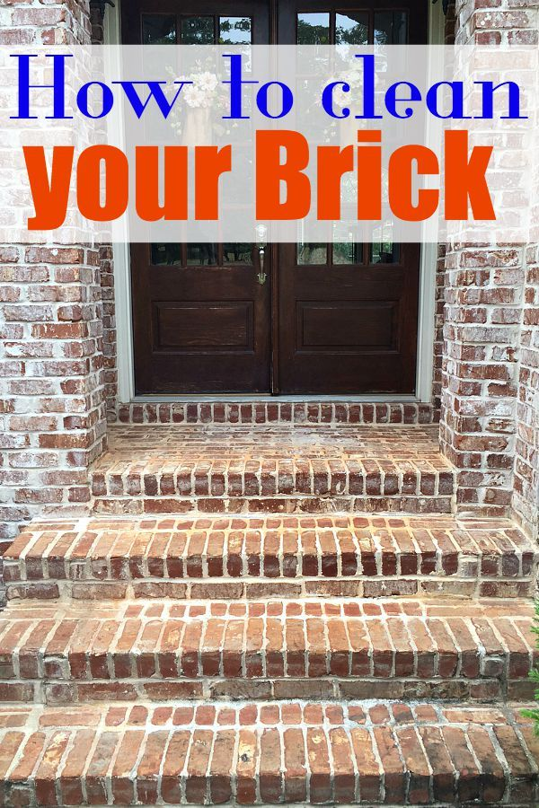 how to clean paint on bricks