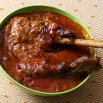Paya Curry Recipe - Paya is an Urdu word that denotes the trotter or foot. A curry-like preparation made with sheep trotters, onions, tomatoes and aromatic masalas.