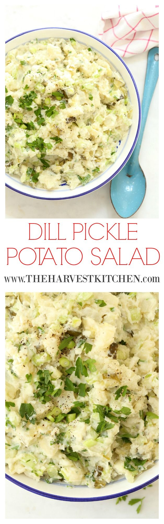 This creamy Dill Pickle Potato Salad is made with potatoes, celery, green onion…