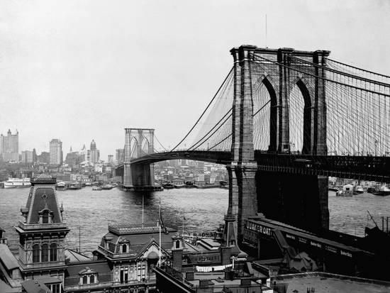 Brooklyn Bridge Over East River and Surrounding Area Photographic Print at AllPosters.com