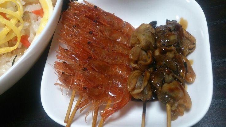 Shrimp and cram ''TUKUDANI''