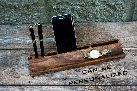 iPhone Stand Solid Organizer Desk Caddy Charging Holder Men