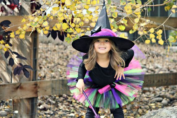 Talk about CUTE - Yes, it really is! Your little girl will look adorable in this Sweet Witch Tutu Costume!!!