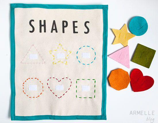 shapesArmelle Blog, Shapes Quiet Book Page, Boys Quiet Book, Book Shape, Book Ideas, Quiet Books, Learning Shape, Book Pages, Shape Quiet