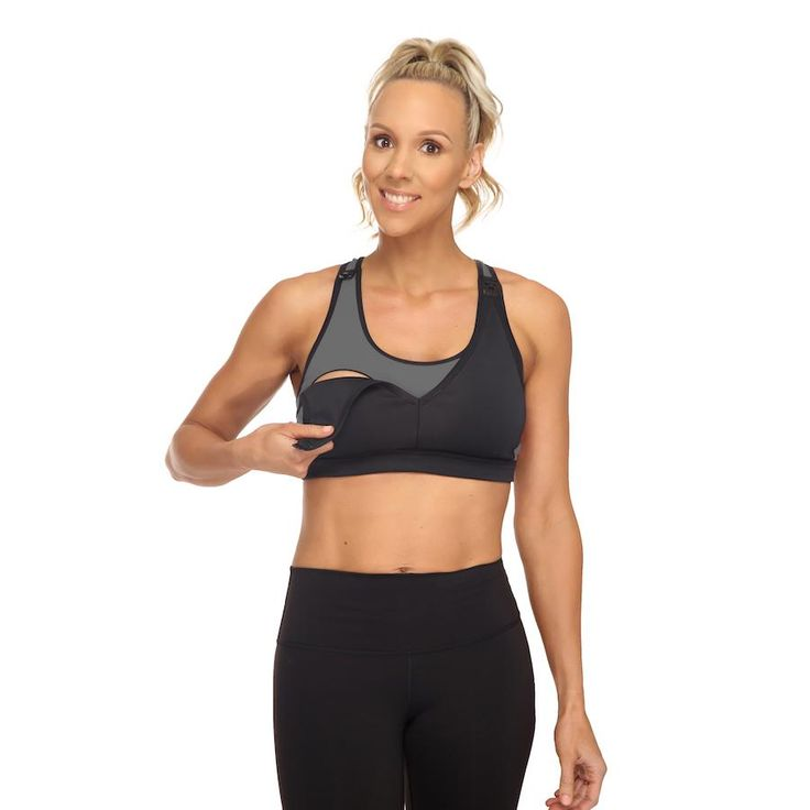 Finally, a nursing sports bra that's comfortable, moisture wicking and has a dual side drop THE NURSING SPORTS BRA YOU'VE BEEN WAITING FOR! With mid-high impact